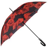 Happy Rain Long AC Kinematic Stockschirm 87 cm, red rose