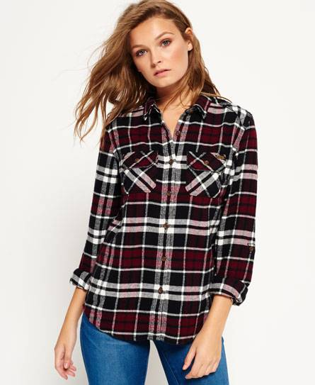 Superdry Milled Flannel Hemd, female, Outlet, S