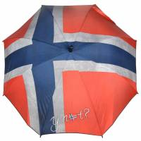 Y Not Long AC Stockschirm 87 cm, flag norway